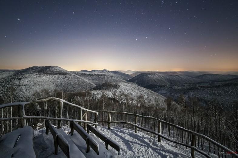 Kirschfelsen,Night#,Pfälzerwald,Winter