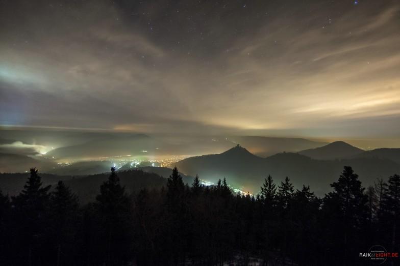 Deutschland Pfalz Rehbergturm Winter 2014 Sterne