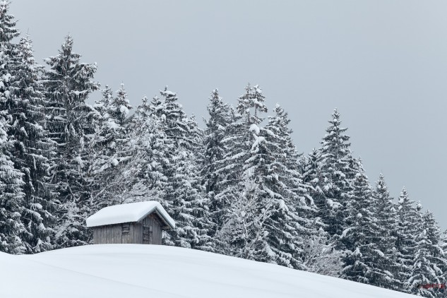 Holzhaus,Oberstdorf,Schnee,Silveseter 2014,Winter