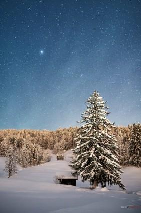 Haus im Schnee,Nightshots,Oberstdorf,Silveseter 2014,Winter
