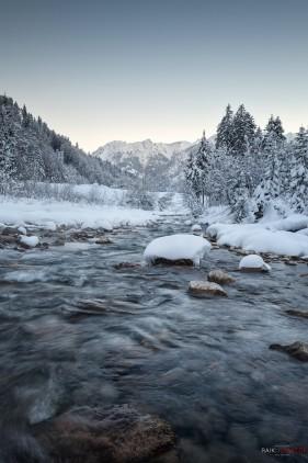 Oberstdorf, Stillach, Winter