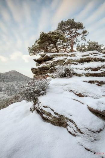 Pfälzerwald, Schlüsselfelsen, Berwartstein, Winter