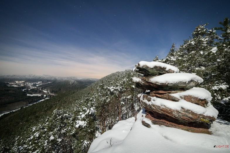 Pfälzerwald, Geiersteine, Winter, Lug
