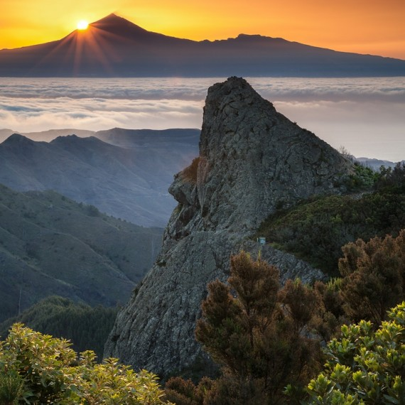 La Gomera, Sunrise, Teneriffa, Clouds