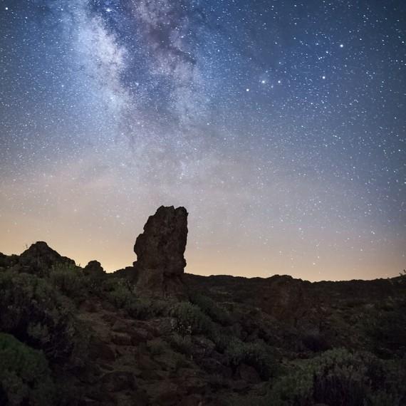 Caldera, Teide, Milchstrasse, Teneriffa