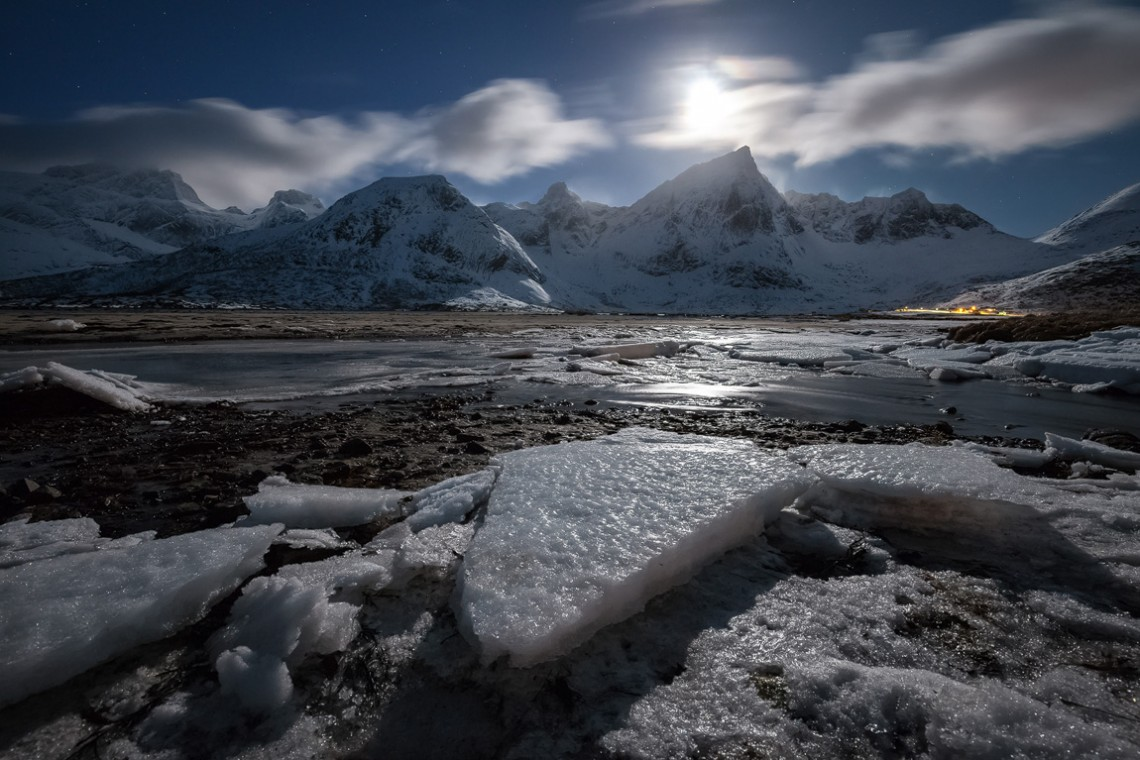 Lofoten, Norwegen, Fjord