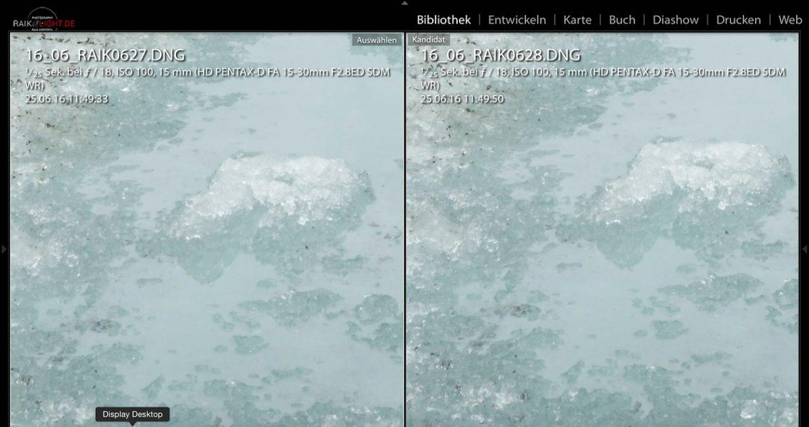Rechts mit Pixelshift Auflösung