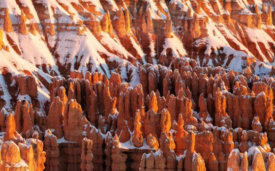 Bryce Canyon USA Utah Snow Sunrise