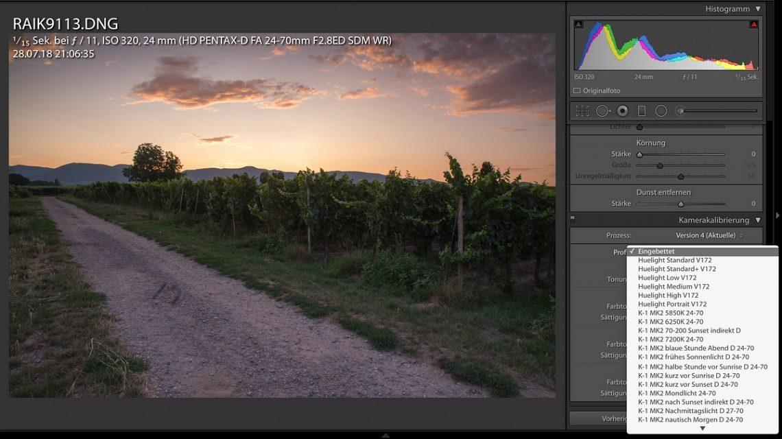 Xrite ColorChecker Kamerakalibrierung