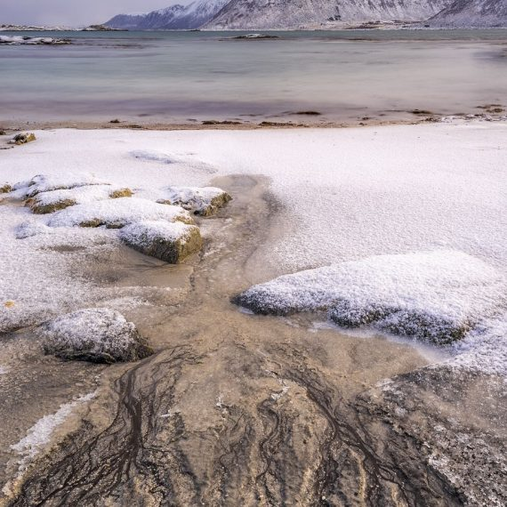 Gimsøy, Winter, Lofoten, Schnee, Januar, Eis, Polarlichter, beste Fotoreise, Kirche