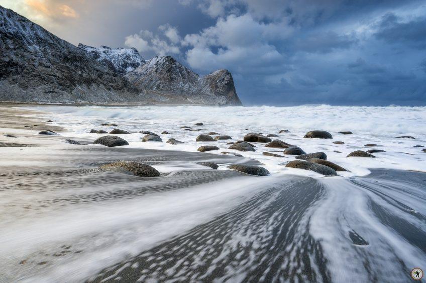 Lofoten Landscape Unstad Beach, Norwegen, beste Fotoreise, Polarlichter, Masterclass