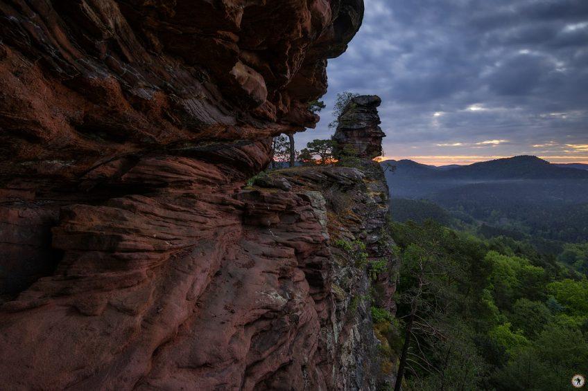 Pfälzerwald, Frühling, Mai, Felsen, Wandern, Morgendämmerung
