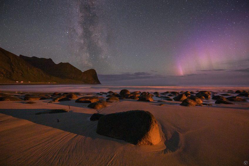 Unstad at Night Lofoten